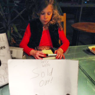 Blood money book signing sold out!